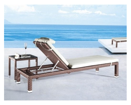 Ingram Adjustable Patio Chaise Lounge - This Ingram adjustable patio chaise lounge will bring versatility and style to your patio furniture collection.