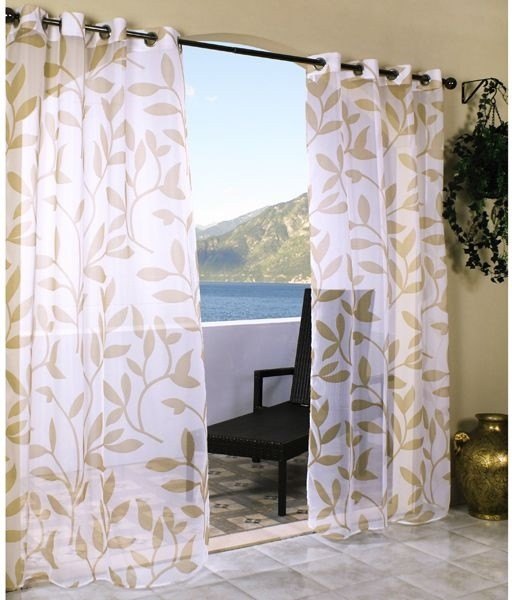 Leaf Sheer Outdoor Curtain  outdoor umbrellas