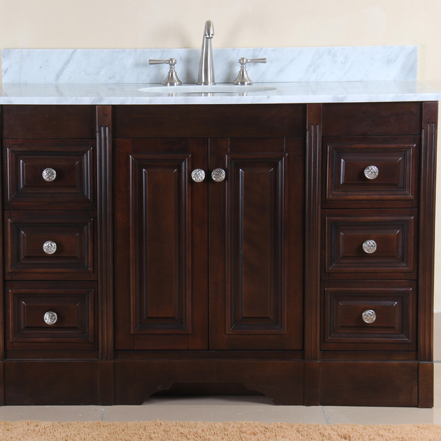 austen 49 inch single sink vanity set contemporary
