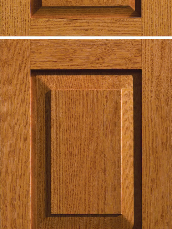 """Dura Supreme Cabinetry - Dura Supreme Cabinetry Lancaster Cabinet Door Style - Dura Supreme Cabinetry """"Lancaster"""" cabinet door style in Quarter-Sawn Red Oak shown with Dura Supreme's """"Butternut"""" stained finish."""