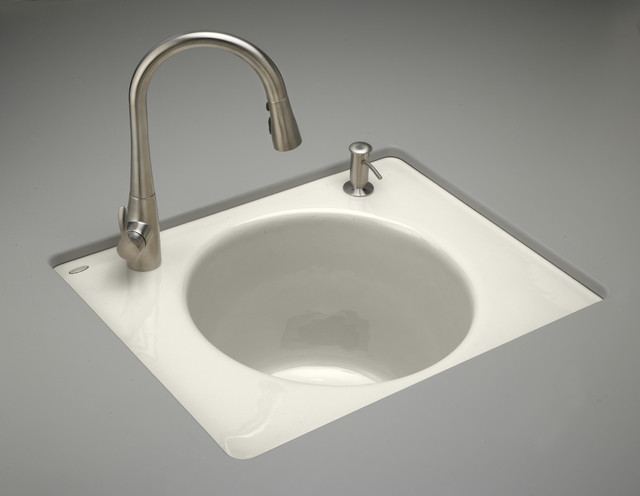 ... Tandem Undercounter Cast Iron Utility Sink contemporary-bathroom-sinks