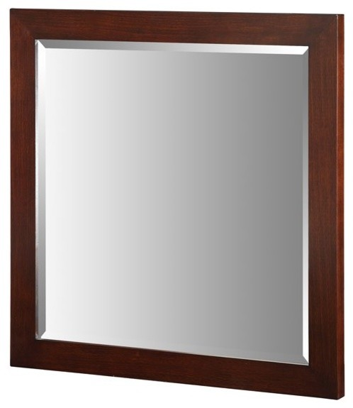 "Xylem-M-ESSENCE-30DW Essence 30"" Mirror in Dark Walnut traditional-bathroom-mirrors"