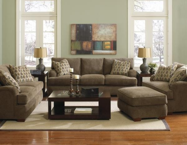Klaussner furniture vaughn 4 piece living room set for Living room 5 piece sets