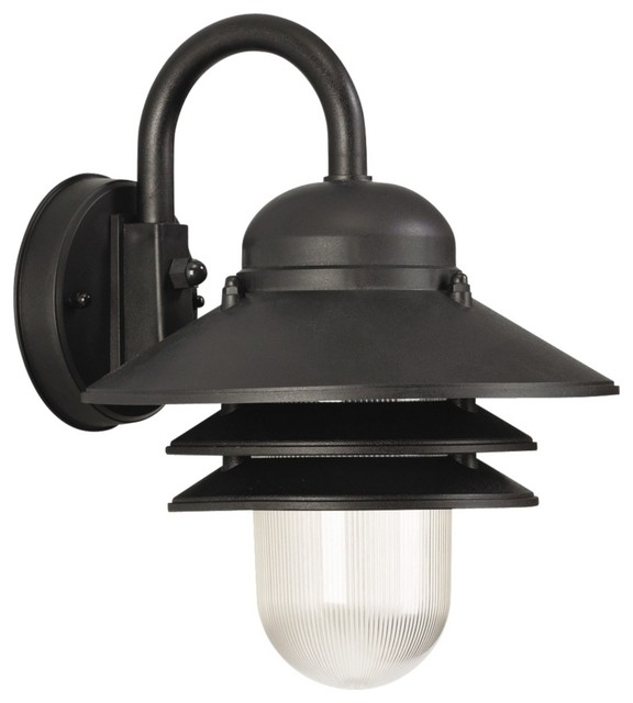 Marlex Nautical 13 High Black Outdoor Wall Light Beach Style Outdoo