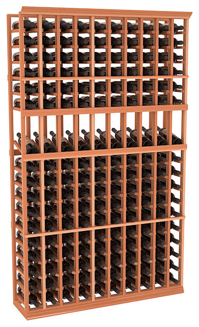 10 Column Display Cellar Rack in Redwood traditional wine racks