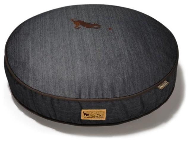 Signature Urban Denim Medieval Blue/Dark Chocolate Round Pet Bed pet-beds