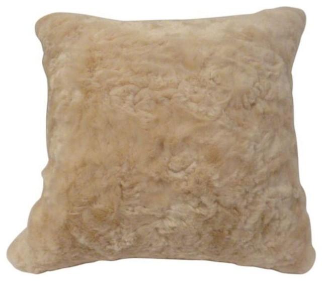 Cream Fur Throw Pillows : Used Faux Fur Throw Pillow in Cream - Contemporary - Decorative Pillows - by Chairish