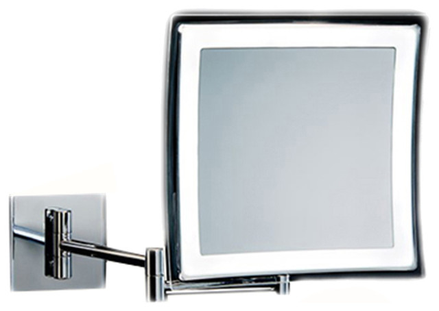 Smile 840 Battery Operated Wall Mounted Magnifying Mirror 5x - Contemporary - Makeup Mirrors ...
