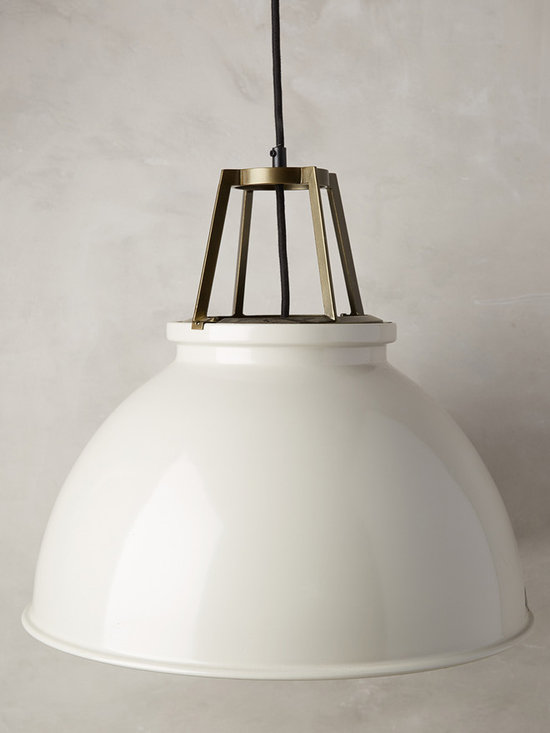 Titan Pendant Lamp - Founded nearly 25 years ago by Peter Bowles, the son of a British lighting manufacturer, Original BTC is deeply rooted in traditional craftsmanship. Each of their quality fixtures - think spun metal pendants, glass scones and bone china task lamps - is inspired by 1940s factory fittings, and is hand-finished in Oxford, England. This classic design with a steel braided cable is no exception.