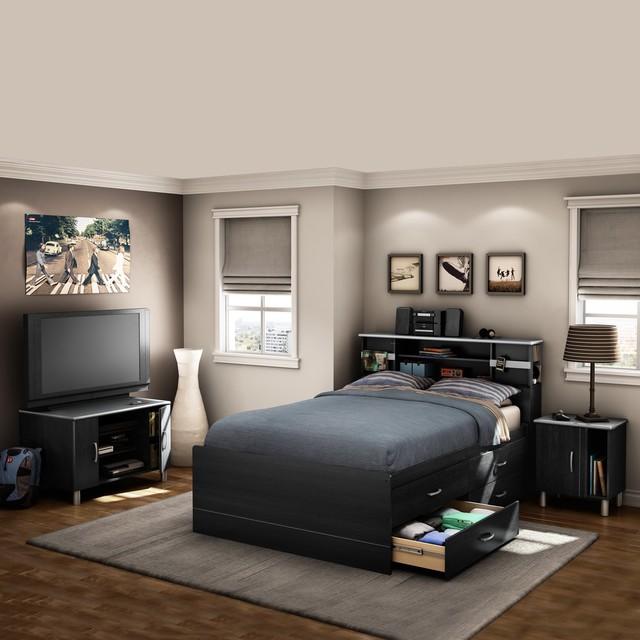 Cosmos Black Onyx Bedroom Set