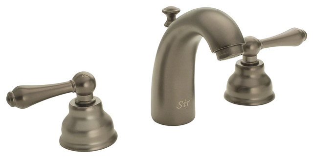 MR Direct 706-bn Brushed Nickel Wide Spread Lavatory Faucet bathroom-faucets-and-showerheads