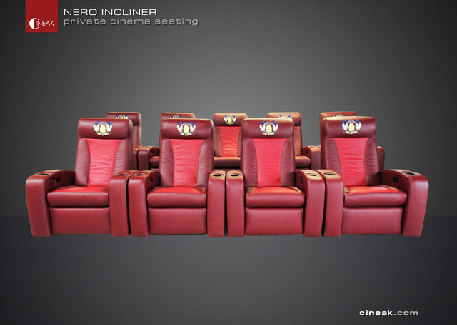 Most Exclusive Media Room Seats. The Nero by CINEAK. traditional-armchairs