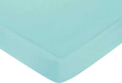 Zig Zag Turquoise and Gray Crib and Toddler Sheet by Sweet Jojo Designs traditional-kids-bedding