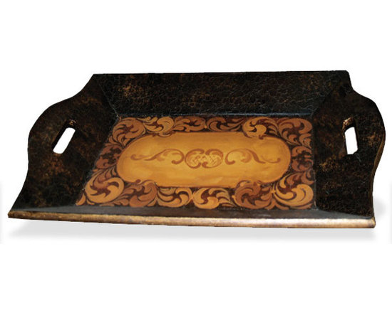 Accessory Trays - This hand crafted and hand painted accessory tray is available in a variety of finishes. See more at www.KoenigCollection.com