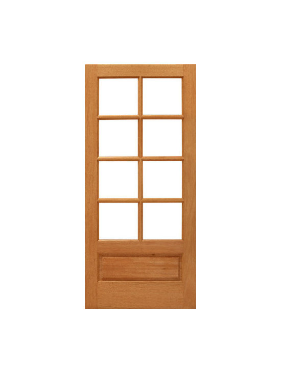 "8-lite French Brazilian Mahogany 1 Panel IG Glass Single Door - SKU#    8-lite-P/B-Ext-1Brand    AAWDoor Type    FrenchManufacturer Collection    Mahogany French DoorsDoor Model    Door Material    WoodWoodgrain    MahoganyVeneer    Price    460Door Size Options    24"" x 80"" (2'-0"" x 6'-8"")  $030"" x 80"" (2'-6"" x 6'-8"")  $032"" x 80"" (2'-8"" x 6'-8"")  $036"" x 80"" (3'-0"" x 6'-8"")  +$10Core Type    SolidDoor Style    Door Lite Style    3/4 Lite , 8 LiteDoor Panel Style    1 Panel , Ovolo StickingHome Style Matching    Craftsman , Colonial , Cape Cod , VictorianDoor Construction    Engineered Stiles and RailsPrehanging Options    Prehung , SlabPrehung Configuration    Single DoorDoor Thickness (Inches)    1.75Glass Thickness (Inches)    1/2Glass Type    Double GlazedGlass Caming    Glass Features    Insulated , Tempered , low-E , Beveled , DualGlass Style    Clear , White LaminatedGlass Texture    Clear , White LaminatedGlass Obscurity    No Obscurity , High ObscurityDoor Features    Door Approvals    FSCDoor Finishes    Door Accessories    Weight (lbs)    340Crating Size    25"" (w)x 108"" (l)x 52"" (h)Lead Time    Slab Doors: 7 daysPrehung:14 daysPrefinished, PreHung:21 daysWarranty    1 Year Limited Manufacturer WarrantyHere you can download warranty PDF document."
