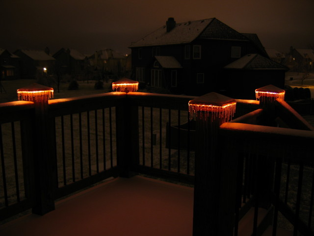 deck lighting lighted post caps traditional lighting kansas. Black Bedroom Furniture Sets. Home Design Ideas