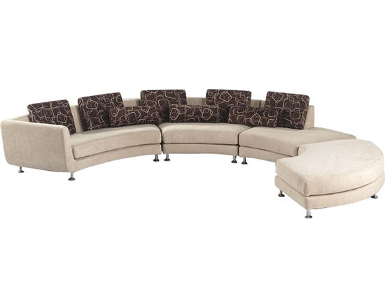 Scene Furniture - Fabric Curved Sectional Sofa - This unique sectional sofa is hand produced with soft fabric and a very distinct curved look. The shape can be changed from curvy to serpentine within minutes by simply rearranging the sections (tool free).