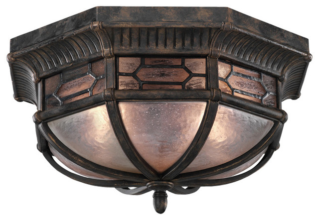 Devonshire Outdoor Flush Mount, 414882ST traditional-outdoor-ceiling-lights