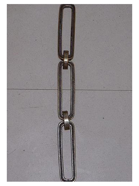 Brass Chandelier Chains - Chain # 28: Rectangular Hing Chain with rounded edges