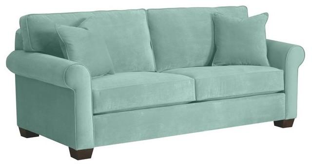 lafayette apartment size sofa blue 62x38x32 contemporary sofas
