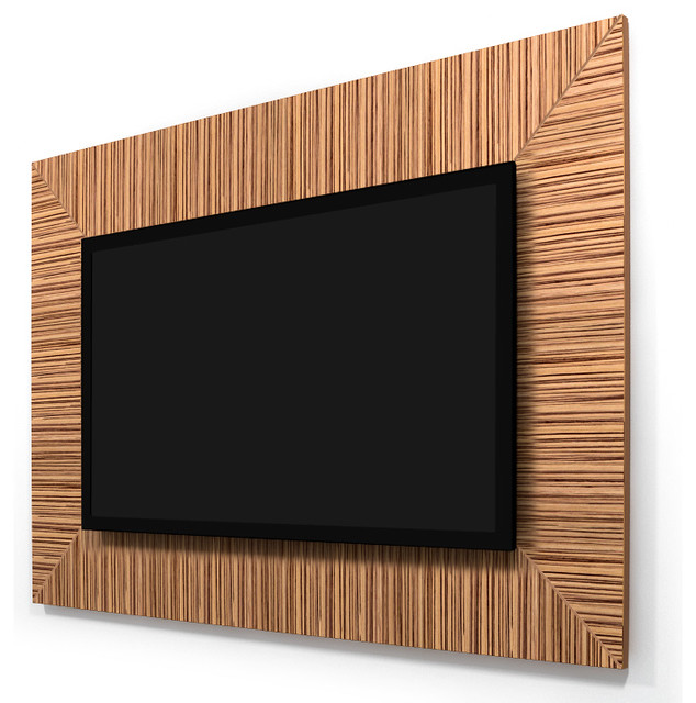 "Zebrawood 40""-46"" TV Wall Panel contemporary-home-electronics"