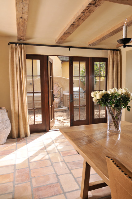 Italian Tuscan Style Home Mediterranean Windows And