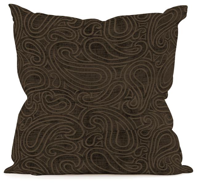 "Howard Elliott Rhythm Chocolate 20"" x 20"" Pillow transitional-decorative-pillows"