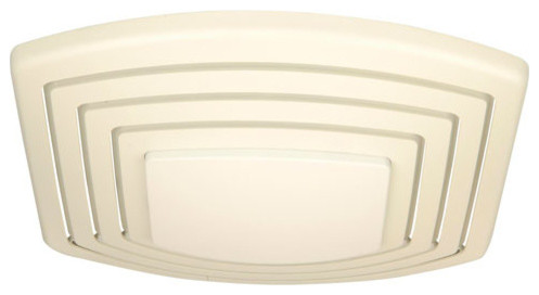 Fresh Air Designer White Lighted Bathroom Ventilation Fan Modern Electric