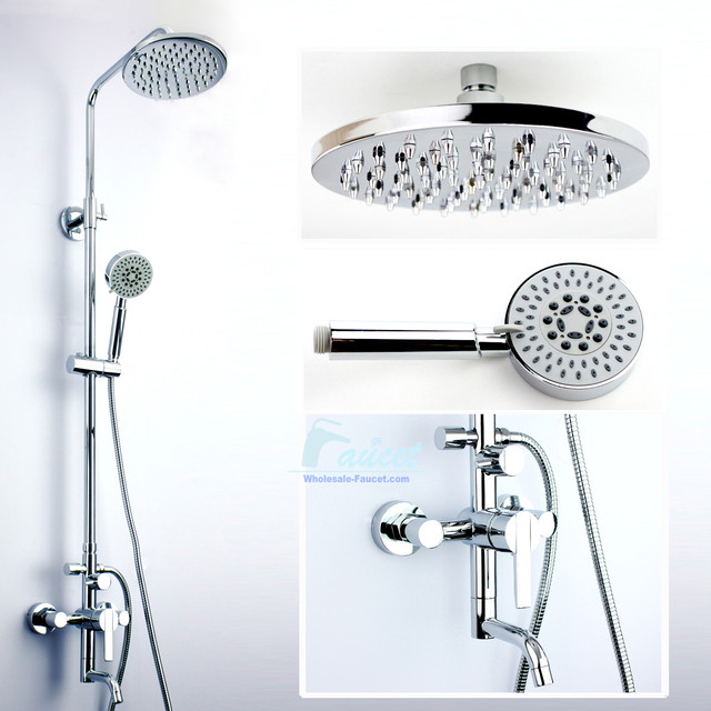 Single Handle Wall Mounted Shower Faucet Set Showerheads And Body Sprays