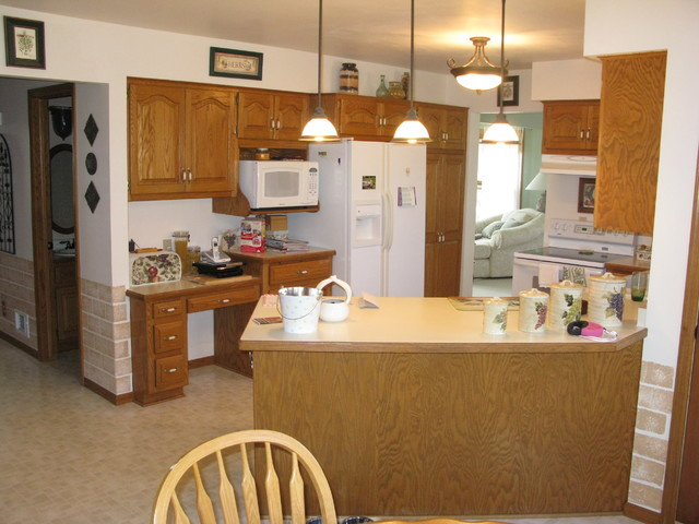 Kitchen remodel in Hartford - Before traditional
