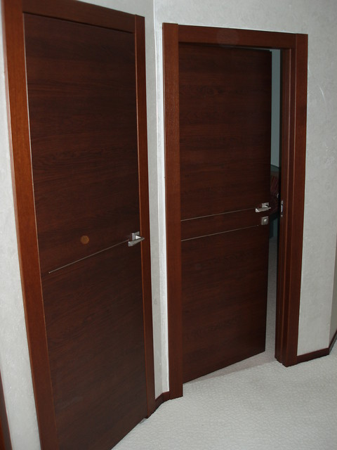 Solid wood doors orizzonte 1f and 2f models modern for All wood interior doors