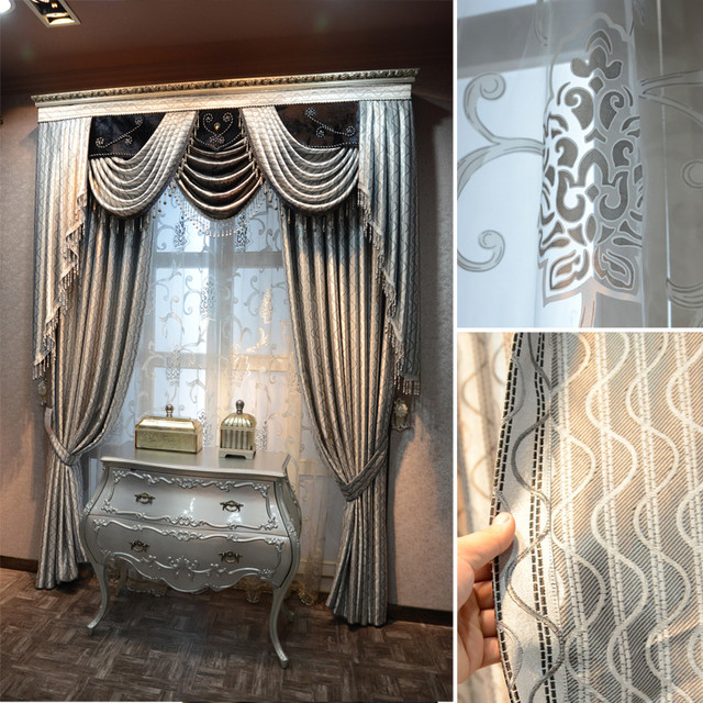 Customized Curtains In Blue Color