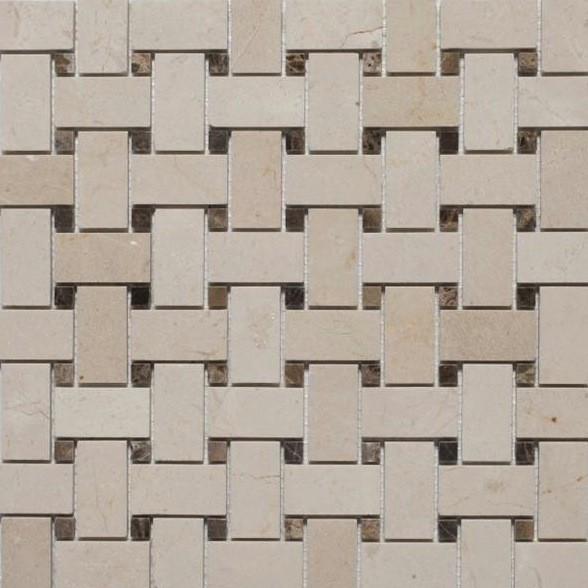 Basketweave Mosaic Tiles traditional bathroom tile