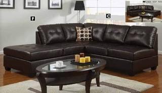 Poundex Furniture – U-Shaped Modular Leather Sectional Sofa - F7246 ...