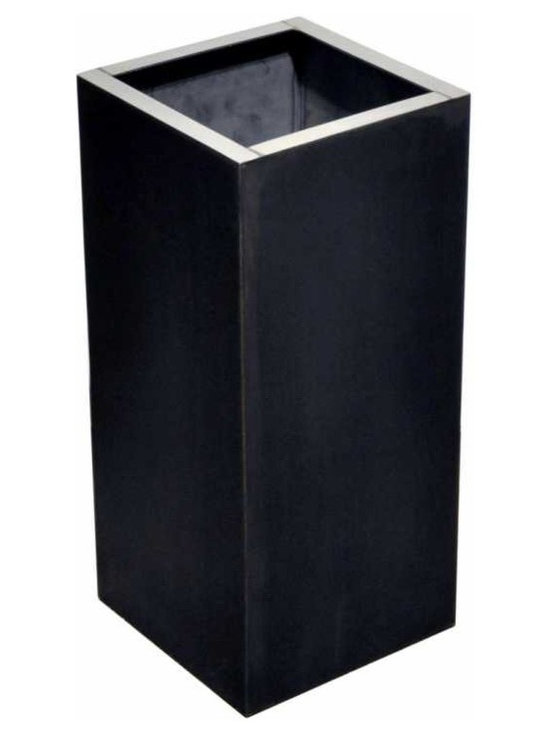 Tall rectangular box - Vintage inspired steel cane and umbrella stand. Because it combines steel, stainless steel and bronze this box offers a unique vintage inspired palette of oxidized and aged metals.