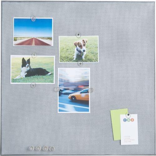 Tacktile message board modern bulletin board by cb2 for Modern cork board