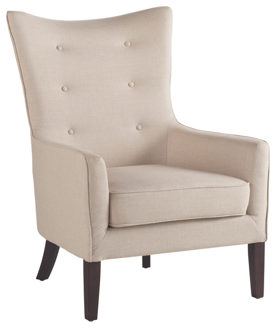 Auberge Armchair, Linen contemporary-armchairs-and-accent-chairs