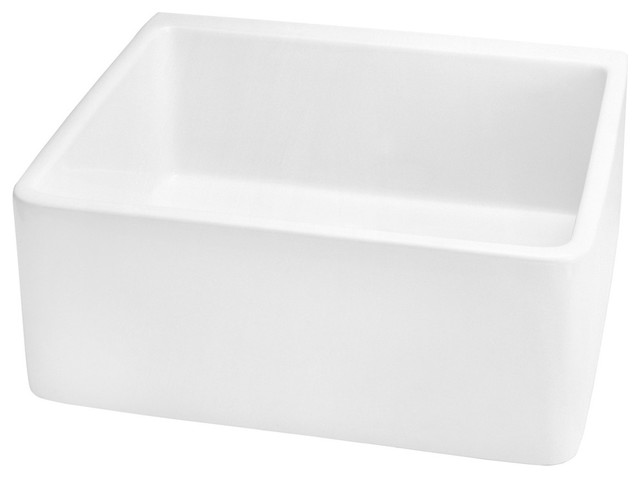 Belle Foret F3KIT WH Kitchen Sink in White traditional-kitchen-sinks
