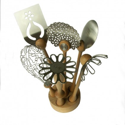 Wild Flower Utensil Set eclectic-cooking-utensils