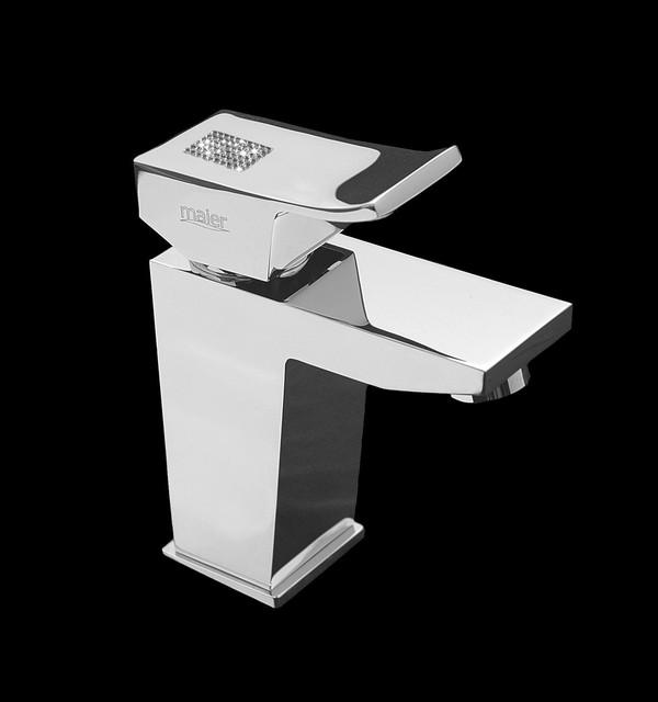 Macral Design-Maier bathroom faucet with swarovski crystal. contemporary-bathroom-faucets
