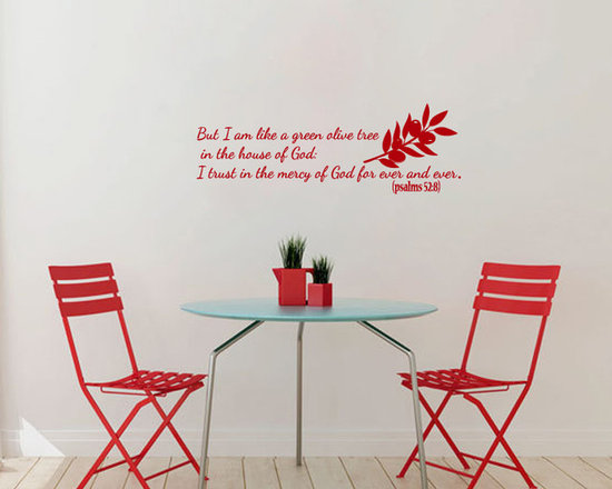 Vinyl Decals Psalms Bible Quote Lord God Olive Tree Home Wall Art Decor Removabl -