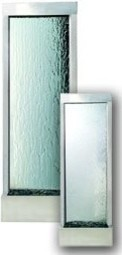 Freestanding Water Feature - Stanless Steel and Glass contemporary-indoor-fountains