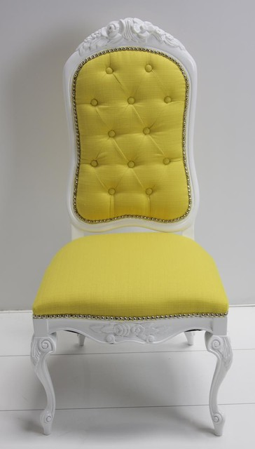 Monte Carlo Dining Chair, Yellow traditional dining chairs and benches