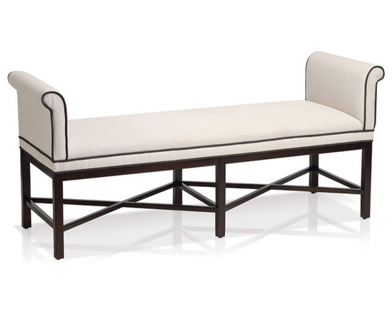 Kelly Rolled Arm Bench - For more information: