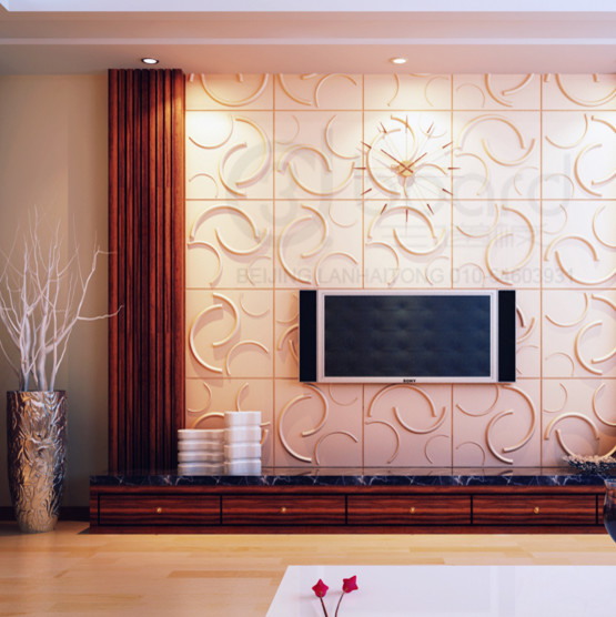 2013 3d wall decor art panels and wall paper modern