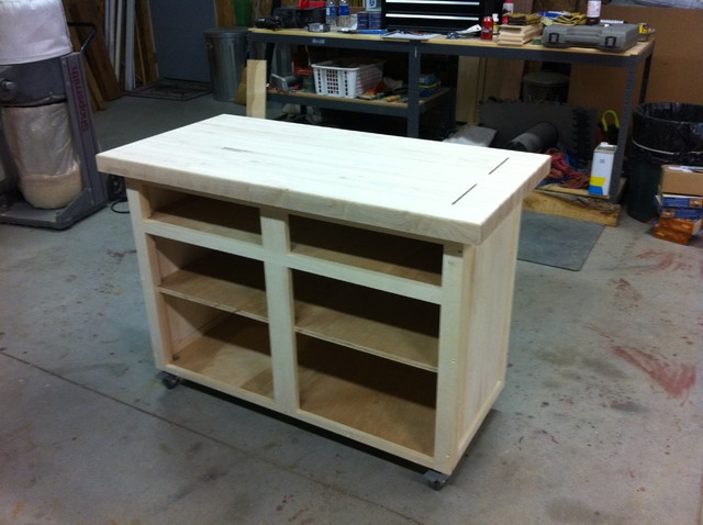 Butcher Block Rolling Kitchen Island : Rolling island - Raised panel and butcher block - Kitchen Islands And Kitchen Carts