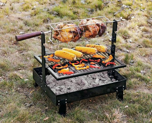 Rome Firepan Rotisserie Grill - Traditional - Grill Tools ...