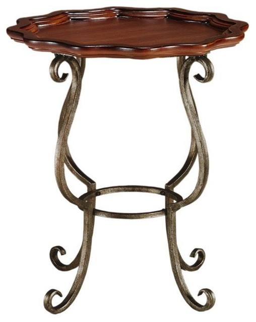 Jardiniere Iron Side Table traditional-side-tables-and-end-tables