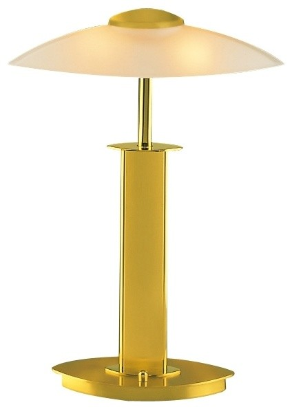 Contemporary Holtkoetter Dual Brass Finish and Champagne Glass Lamp - Contemporary - Table Lamps ...
