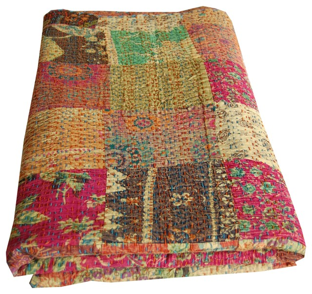Indian Kantha Quilt Asian Quilts And Quilt Sets